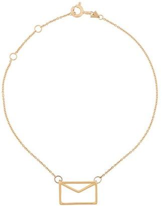 ALIITA 9kt yellow gold envelop bracelet