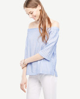 Ann Taylor Stripe Off The Shoulder Top