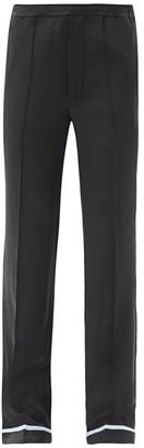 Haider Ackermann Piped-hem Silk-satin Trousers - Black