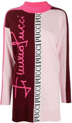 Emilio Pucci Logo Print Sweater Dress