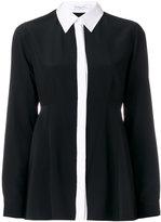 Givenchy contrast trim shirt