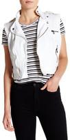 Jakett Cotton Sailcloth Vegan Leather Trim Vest