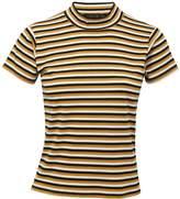 M&Co Stripe rib knit top