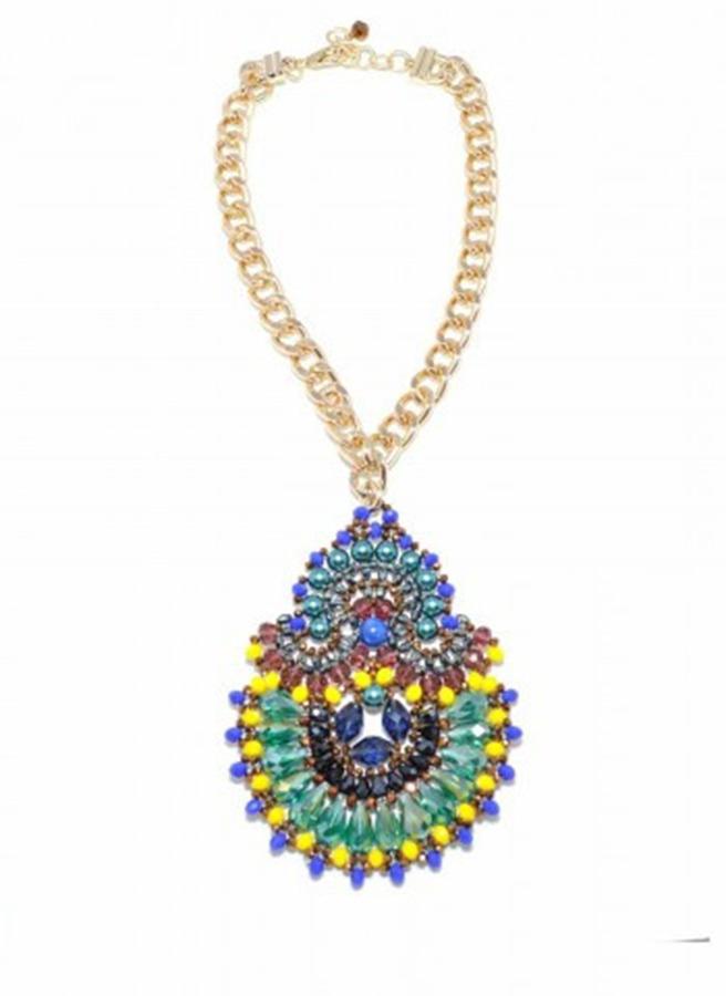 Zenzii Peacock Pendant Necklace