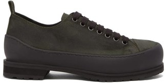 Ann Demeulemeester Lace-up Suede Trainers - Mens - Khaki