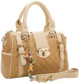 MG Collection Karasi Diamond Quilted Bowling Shoulder Bag