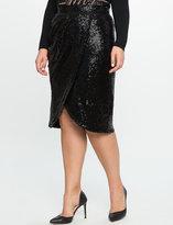 ELOQUII Plus Size Sequin Tulip Skirt