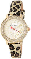 Betsey Johnson Women's Crystal Bezel & Metallic Strap Watch