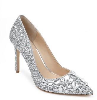 Badgley Mischka Ulyana Crystal Glitter Pump
