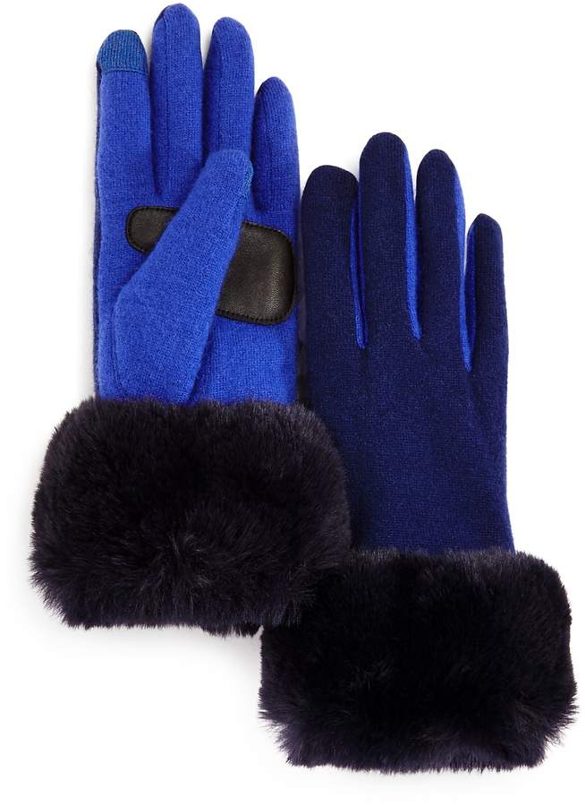 Echo Faux Fur Cuff Tech Gloves