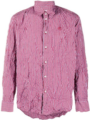 Martine Rose Textured Check Long-Sleeve Shirt