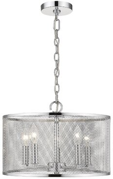 Breakwater Bay Ruffin 5 - Light Shaded Drum Pendant