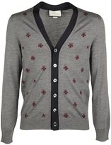 Gucci Bee Embroidered Cardigan
