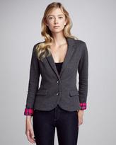 Splendid Sutton Contrast-Cuff Blazer