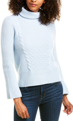 Forte Cashmere Cable-Knit Cashmere Sweater