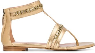 Twin-Set Twin Set chain-embellished thong sandals