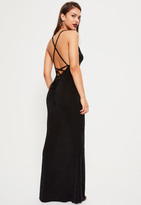 Missguided Black Cross Back Cowl Front Maxi Dress