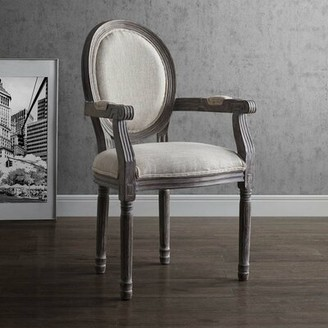 Ophelia & Co. Vicente Vintage French Upholstered Dining Chair Upholstery Color: Beige