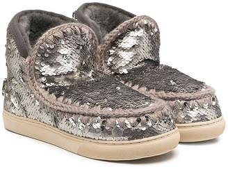 Mou Kids Eskimo sequin boots