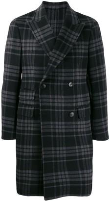 Ermenegildo Zegna Plaid Double-Breasted Coat