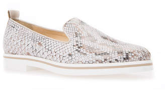 Geox Analee Snake-Print Leather Boat Shoes
