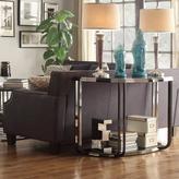 Dupont HomeSullivan Glass and Chrome Sofa Table in Black