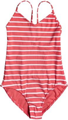 Roxy Kids' Stripe One-Piece Swimsuit