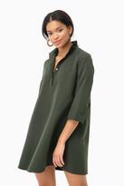 Tuckernuck Dark Green Megan Taffeta Dress