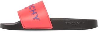 Givenchy 10mm Logo Embossed Rubber Slide Sandals