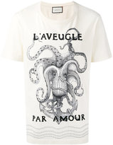Gucci L'aveugle par amour slogan t-shirt - men - Cotton - S