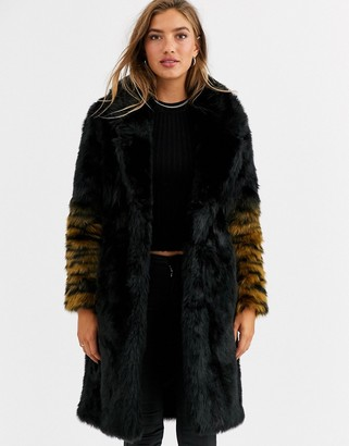 Urban Code Urbancode coat with ombre tiger sleeves