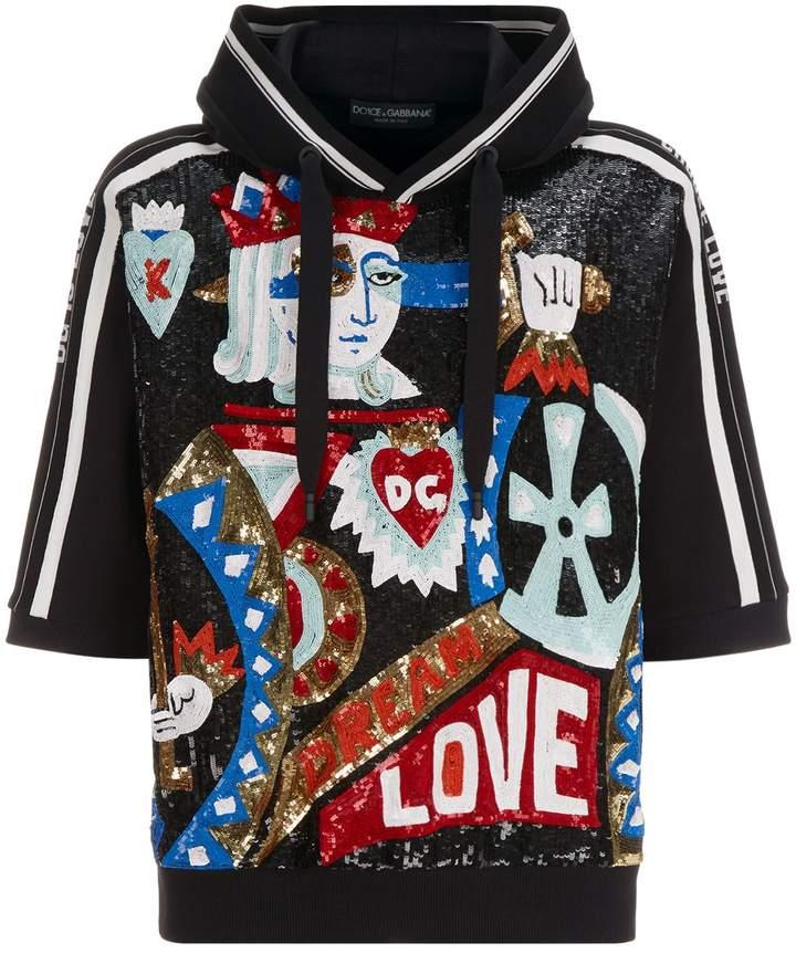 Dolce & Gabbana Sequin King Of Hearts Hoodie