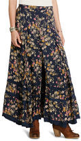 Denim & Supply Ralph Lauren Floral Button-Front Maxiskirt