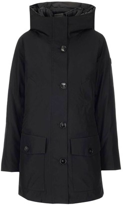 Woolrich Hooded Padded Front Button Jacket