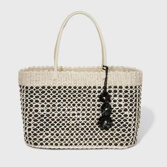 A New Day Large Straw Tote Handbag Natural