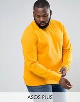 Asos PLUS Sweatshirt In Yellow