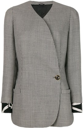 Versace Pre-Owned Gingham Checked Jacket