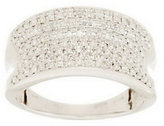 Micropave Affinity Diamond Jewelry Micropave' Concave Band Diamond Ring, 14K, 1/2cttw by Affinity