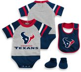 NFL Houston Texans 3-Piece Creeper Bib and Bootie Set