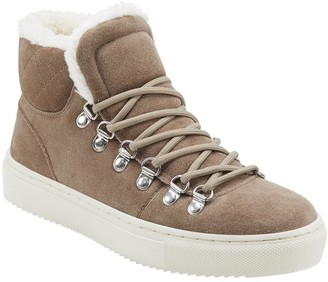 Marc Fisher Daisie Faux Fur Trim High Top Sneaker