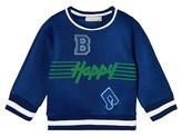 Stella McCartney Blue B Happy Musical Note Mesh Sweatshirt