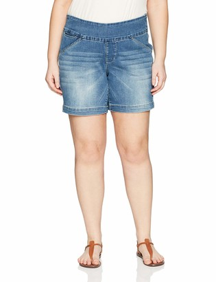 """Jag Jeans Women's Plus Size Ainsley 8"""" Pull on Short"""