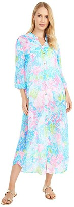 Lilly Pulitzer Natalie Maxi Cover-Up (Multi Fished My Wish) Women's Swimwear