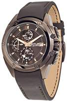 Sector Men's 43mm Brown Steel Bracelet & Case Quartz Analog Watch 3271981001