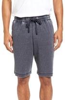 Daniel Buchler Men's Washed Cotton Blend Terry Lounge Shorts