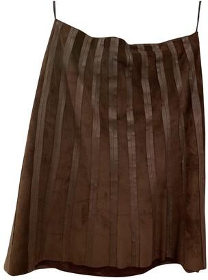 Roberto Cavalli Brown Suede Skirt for Women