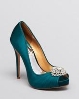 Thumbnail for your product : Badgley Mischka Peep Toe Evening Pumps - Pettal High Heel