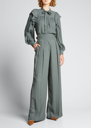 Ulla Johnson Felix Wide-Leg Trousers