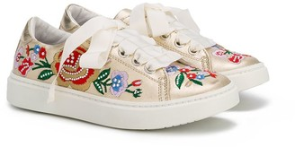 Andrea Montelpare floral embroidered sneakers