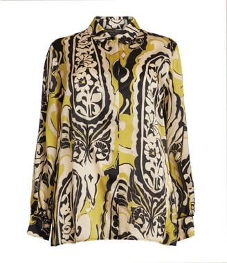 Marina Rinaldi Printed Silk Shirt